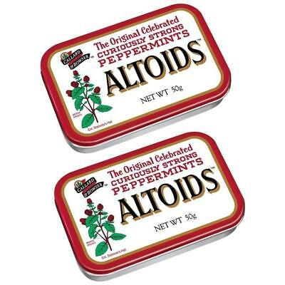 NEW Altoids Original Mint Peppermint Tin 2PK Curiously Strong Refresh Breath