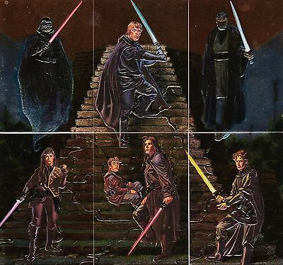 Star Wars Finest 1996 Topps Complete Embossed Foil Insert Card Set F1 To F6
