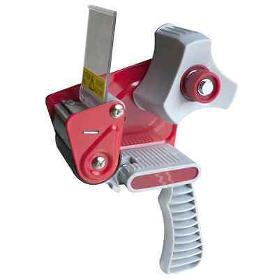 "Red 2"" Inch Portable Tape Dispenser Gun Packing Packaging Cutter Sealing Hand"