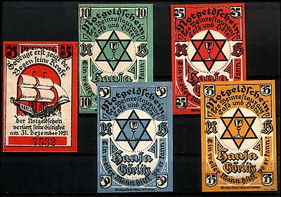 GERMANY POLAND 1920 JEWISH HOTEL MONEY w STAR of DAVID (4) SITE OF ANCIENT BATHS