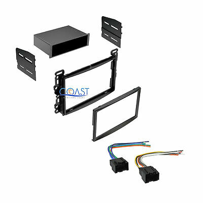 Car Stereo Single Double Din Dash Kit with Harness for 2006-2007 Saturn Ion Vue