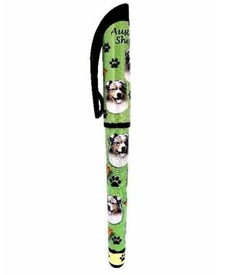 Australian Shepherd Gel Pen Refillable Black Gel Ink Dog Gift
