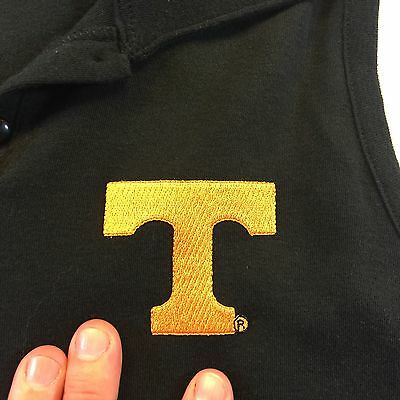 Womens Tennessee Volunteers Vols Black Sleeveless Polo NWT Sz Small By Los Olas