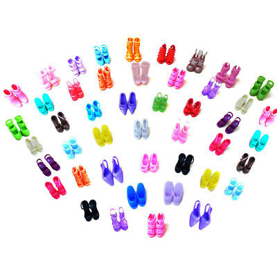 40 Pairs Different Shoes Heels Sandals for Barbie Doll Fashion Dress Toy UK