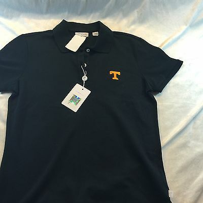 Mens Tennessee Volunteers Vols Black Polo Sz Small NWT By Ashworth Coaching Golf