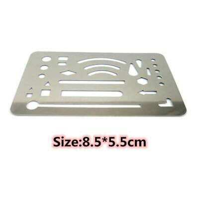 Stainless Steel 27 Patterns Erasing Drafting Tool Shield Template For Drawing