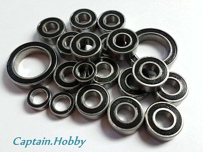 (Black)Double Metal Rubber Sealed Ball Bearing For Tamiya CW-01/CW01 (10pcs) Ryu