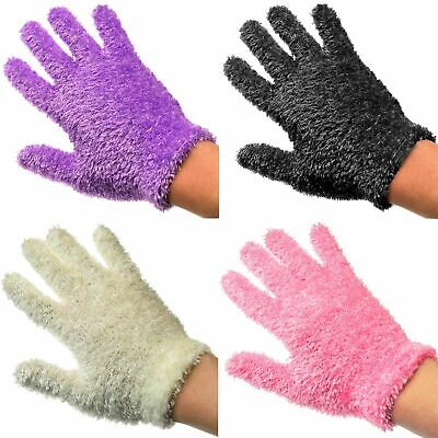 12 x Girls Feather Touch Gloves  Assorted Colours Soft & Warm Wholesale Lots