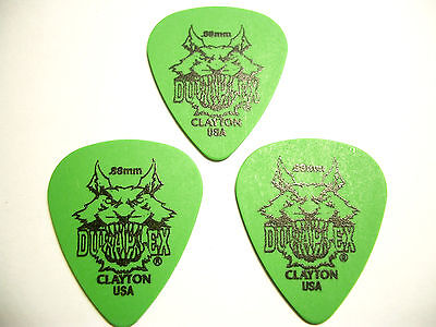3 Clayton Duraplex Picks Plektren 0,88 mm Plektrum