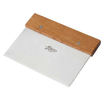 Ateco 1372, Stainless Steel Bench Scraper with Wood Handle
