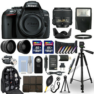 Nikon D5300 DSLR Camera + 18-55mm VR NIKKOR Lens + 24GB Multi Accessory Bundle