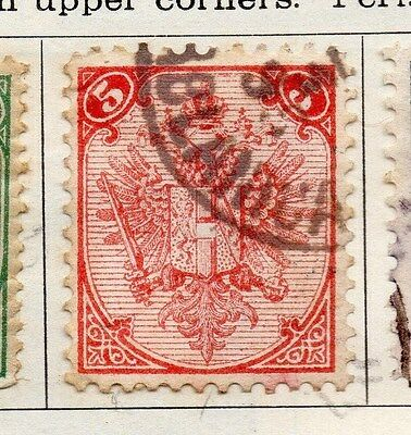 Bosnia Herzegovina 1879 Early Issue Fine Used 5kr.