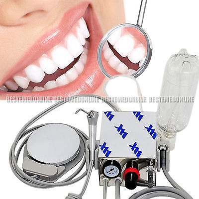 2015 New Portable Dental Turbine Machine Air Compressor 4Hole With Water bottle