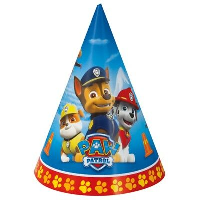 Paw Patrol 8 Ct Cone Hats Birthday Party Chase Marshall