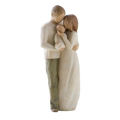 Willow Tree Figurine Our Gift Figurine 26181 Mum Dad & Baby in Branded Gift Box