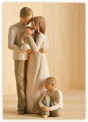 Willow Tree Mother & Father with Baby & Son Figurine Gift Set Family Group