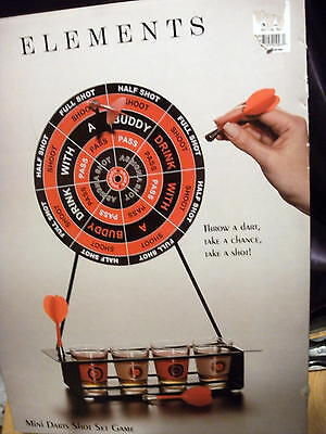 Elements Mini Darts Shot Glass Set Game Magnetic Drinking Game