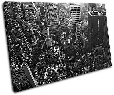 Los Angeles California Skyline City SINGLE CANVAS WALL ART Picture Print VA