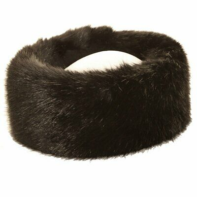 Womens Faux Fur Headband Soft Luxury White Fleece Lined Ear Warmers
