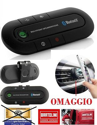 Car Kit Vivavoce Bluetooth da Auto Multipoint Universale per Cellulari e Tablet