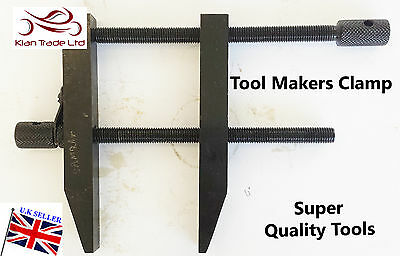 """4"""" INCH 100MM Liner Tool Makers Parallel Clamp Hardened Faces DIY ENGINEERING"""
