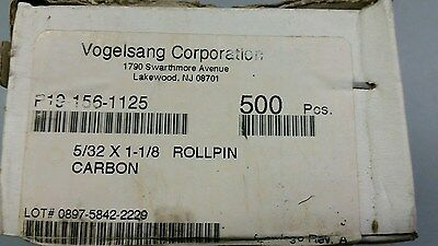 "LOT of 500 ROLL PINS, 5/32"" x 1-1/8"" CARBON STEEL VOGELSANG CORPORATION"