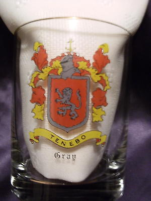 Personalized Coat of Arms Gray Family  Ancestry Tenebo Glass Tumblers Cocktail