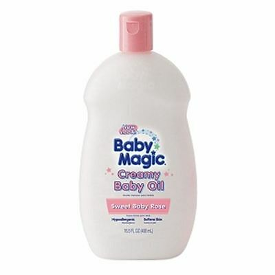 Baby Magic Creamy Baby Oil, Sweet Baby Rose 16.5 oz (Pack of 2)