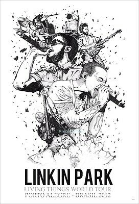 """LINKIN PARK THE POSTER 24""""x36"""" MUSIC ROCK CONCERT BAND NEW SIDE SHEET PM66"""