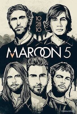 """MAROON 5 THE POSTER 24""""x36"""" MUSIC ROCK CONCERT BAND NEW 1 SIDE SHEET PM68"""