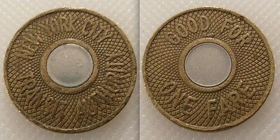 Collectable Two Tone Railway New York City Transit Token - Good For One Fare