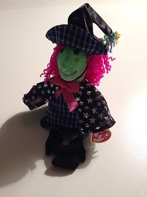 TY Beanie Baby - SCARY the Witch (7 inch) - MWMT's -Stuffed Animal Toy