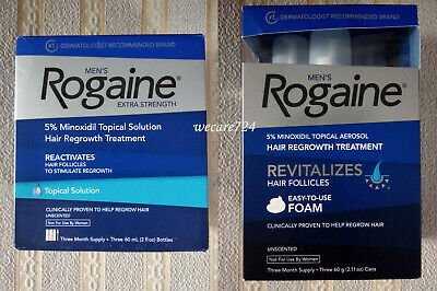 Men's Rogaine Extra Strength Hair Regrowth Solution / Foam 5% Minoxidil Men