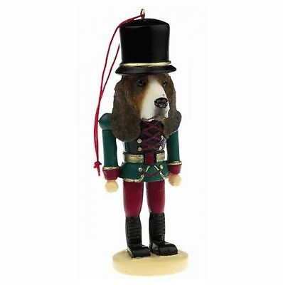BASSET HOUND CHRISTMAS ORNAMENT NUTCRACKER SOLDIER HOLIDAY XMAS 5 in