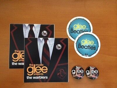 GLEE Package of Stickers and Pins - 2 of each type