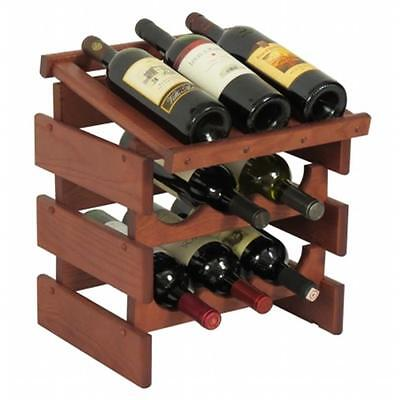 Wooden Mallet WRD32MH 9 Bottle Dakota Wine Rack with Display Top
