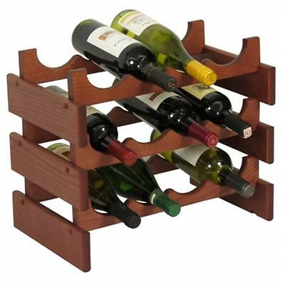 Wooden Mallet WR43MH 12 Bottle Dakota Wine Rack