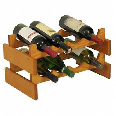Wooden Mallet WR42MO 8 Bottle Dakota Wine Rack