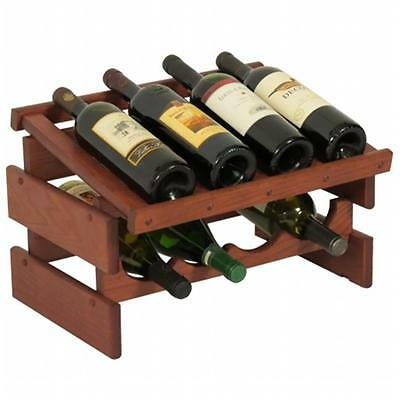 Wooden Mallet WRD41MH 8 Bottle Dakota Wine Rack with Display Top