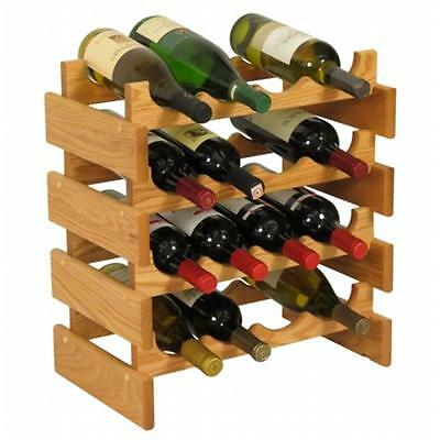 Wooden Mallet WR44LO 16 Bottle Dakota Wine Rack