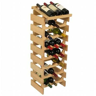 Wooden Mallet WRD37UN 24 Bottle Dakota Wine Rack with Display Top