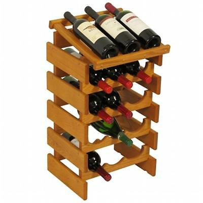 Wooden Mallet WRD34MO 15 Bottle Dakota Wine Rack with Display Top