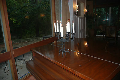 Hand Forged Steel Candlestick holder for 10 candles roots, leaves handmade USA
