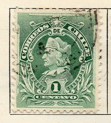 Chile 1901 Early Issue Fine Used 1c. 033542
