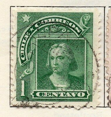 Chile 1905 Early Issue Fine Used 1c. 033554