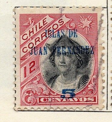 Chile 1905 Early Issue Fine Used 5c. Surcharged 033563
