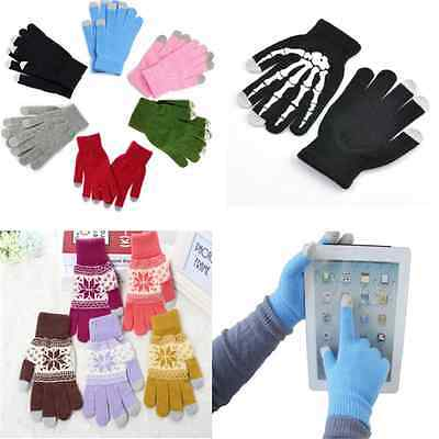 Stylish Magic Unisex Touch Screen Gloves Smart Phone Tablet Knit Warmer Mittens