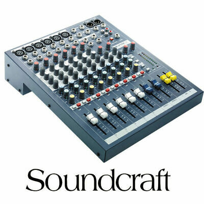 Soundcraft EPM6 6 Channel XLR with 2x Stereo inputs Mixing desk console