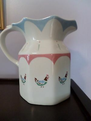 Farmhouse Chic Johnson Bros. England 28 oz pitcher Rooster vintage inspired