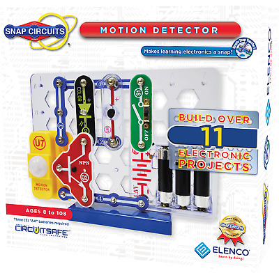 ELENCO SNAP CIRCUITS SCP-13 MOTION DETECTOR KIT wIth 11 OTHER PROJECTS Ages 8+